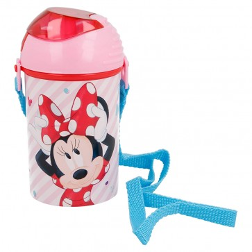 Minnie. Borraccia con cannuccia 450 ml. Disney