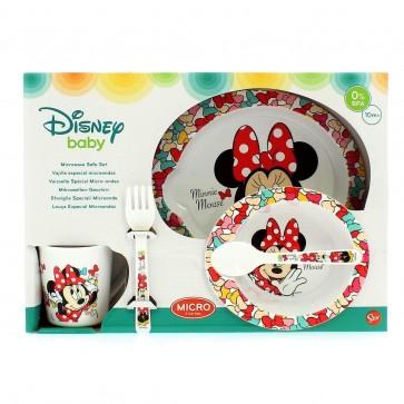 Minnie. Set Baby 5 pezzi adatto a Microonde. Disney