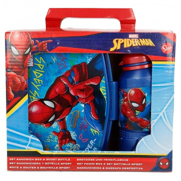 Spiderman. Set Portamerenda + Borraccia sport 420 ml. Marvel