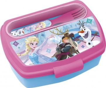 Frozen. Set porta merenda + posate. Disney