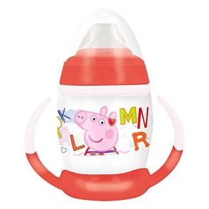Peppa Pig. Tazza allenamento Bambini 270 ml con beccuccio In silicone