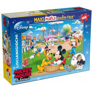 Mickey Mouse. Df Supermaxi Puzzle Double-face Fun Fair 108 pz. 70 x 50 cm