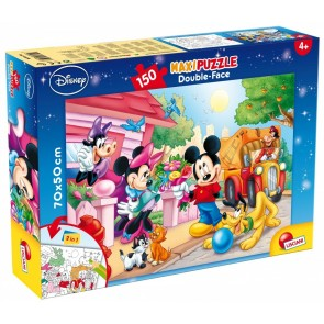 Mickey Mouse. Df Supermaxi Puzzle Double-face 150 pz. 70x50 cm. Disney Giochi