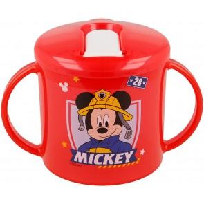 Mickey Mouse. Tazza allenamento Bambini 230 ml con beccuccio apertura facile  Topolino. Diseny Baby
