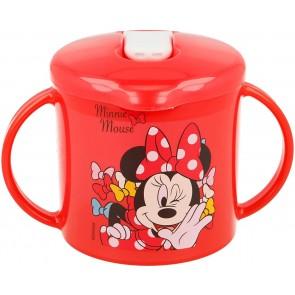 Minnie Mouse. Tazza allenamento Bambini 230 ml con beccuccio apertura facile Minnie