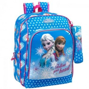 Frozen la Regina Delle Nevi - Zaino Scuola + Astuccio