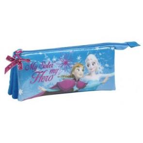 Frozen la Regina Delle Nevi Elsa Anna Disney - Astuccio con Tre Tasche