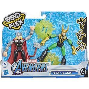 Avengers Bend And Flex Dual Pack Personaggi Snodabili. Thor Vs Loki