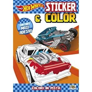 Hot wheels. Sticker & color. Con adesivi. Ediz. illustrata. Con gadget