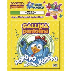 Gallina Puntolina. Albo magico. Ediz. a colori. Con pennarello