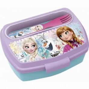 Frozen. Set Contenitore porta merenda + posate. Disney