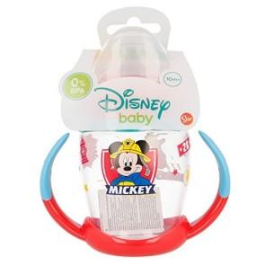 Mickey Mouse. Tazza allenamento Bambini 270 ml con beccuccio In silicone Topolino. Diseny Baby