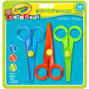 Crayola Mini Kids - 3 forbici per bambini