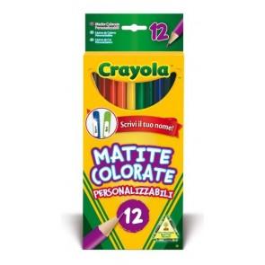 Crayola. 12 Matite Colorate Personalizzabili