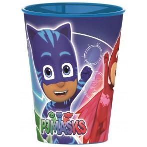 PJ Masks Superpigiamini. Bicchiere in plastica dura adatto per asilo 260 ml