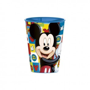 Mickey Mouse. Bicchiere in plastica dura adatto per asilo 260 ml