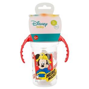 Mickey Mouse. Tazza allenamento Bambini 330 ml con beccuccio In silicone Topolino. Diseny Baby