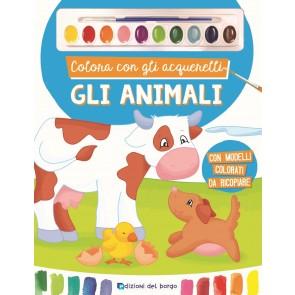 Colora con gli acquerelli gli animali