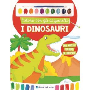 Colora con gli acquerelli i dinosaur