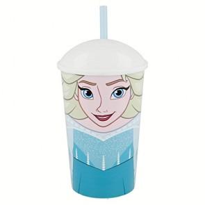 Frozen. Bicchiere con cannuccia da 400 ml. Diseny