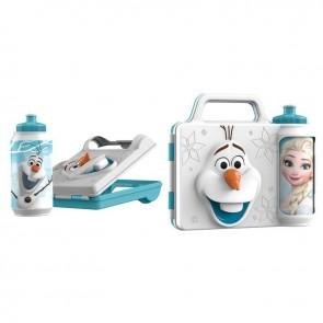 Frozen. Set Pranzo 3D. Porta merenda più Borraccia Olaf Disney