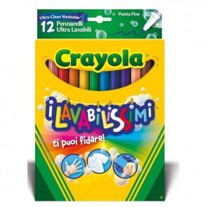 Crayola. I Lavabilissimi - 12 Pennarelli Punta Fine Ultra Lavabili