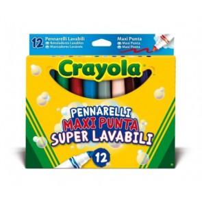 Crayola. Pennarelli Maxi Punta Super Lavabili 12pz