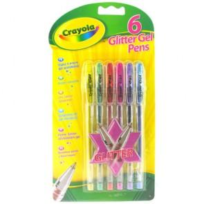 Crayola Penne Gel Glitter Brillanti 6pz