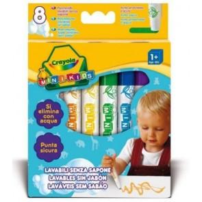 Crayola Mini Kids. 8 Pennarelli Lavabili senza sapone