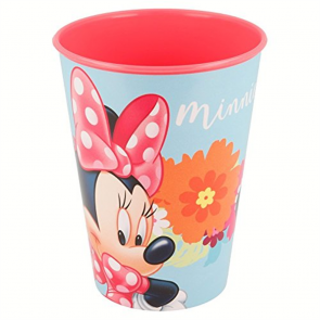 Minnie. Bicchiere in plastica dura adatto per asilo 260 ml Disney