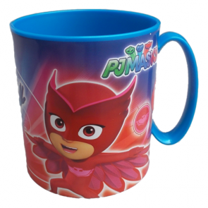PJ Masks Superpigiamini. Tazza in plastica adatta a Microonde 350 ml