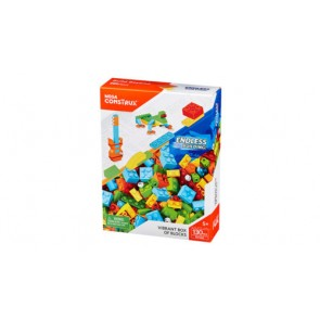 MEGA BLOKS - 130 Pieces - DYG86 - Vibrant Box Of Blocks -FREE SHIPPING