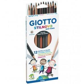 Pastelli Giotto Stilnovo Skin Tones. Confezione 12 matite colorate
