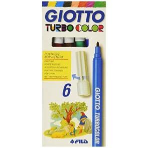 Pennarelli Giotto Turbo color. Scatola 6 colori assortiti