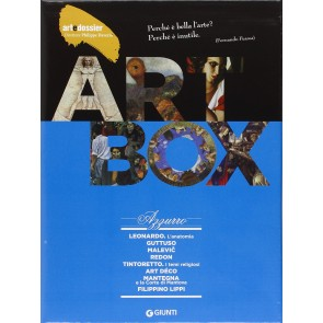 Dossier d'art. Box azzurro: Leonardo. L'anatomia-Guttuso-Malevic-Redon-Tintoretto.