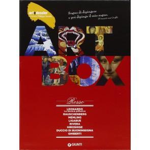 Dossier d'art. Box rosso: Leonardo. La tecnica pittorica-Rauschenberg-Memling-Ligabue-Rivera-Hiroshige-Duccio