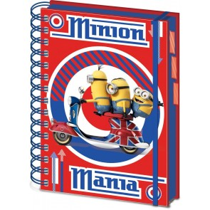 Minions Notebook Quaderno A5 British Mod Red Pyramid International