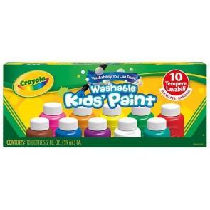 Crayola. Tempere Lavabilissimi Confezione 10 colori assortiti