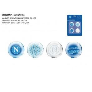 Gadget SSC Napoli. Set 4 Magnetini ufficiali SS Calcio Napoli