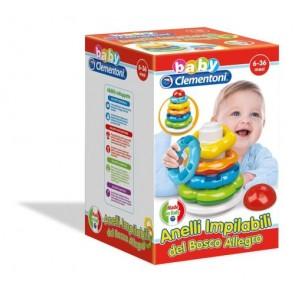 Baby Clementoni. Anelli Impilabili Del Bosco Allegro