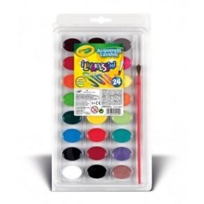Crayola. I Lavabilissimi 24 Acquerelli lavabili Con Pennello