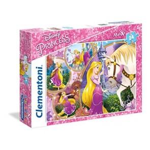 Clementoni 23702 - Puzzle 24 Maxi Princess Tangled
