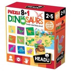 Headu. Puzzle 8+1 Dinosaurs