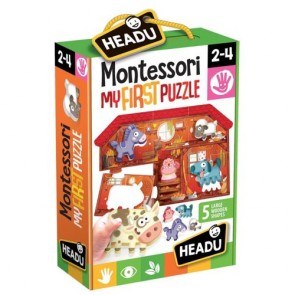 Headu. Primi Incastri Montessori la Fattoria - My First Puzzle