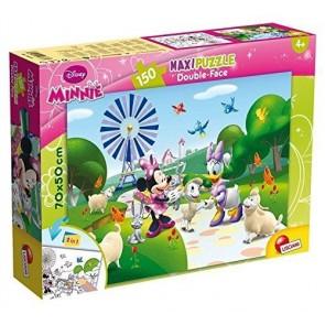 Lisciani Giochi 48335 - Minnie Dis 5 Puzzle Doppia Faccia Supermaxi, 150 Pezzi