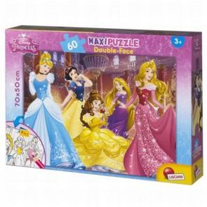 Lisciani Giochi 48250 - Princess Puzzle Doppia Faccia Supermaxi, 60 Pezzi