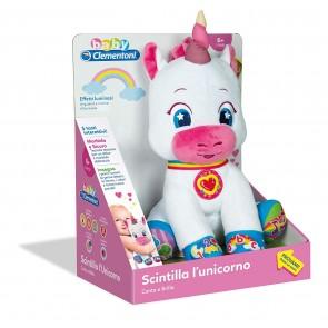 Baby Clementoni. Scintilla l'Unicorno - Peluche Unicorno interattivo