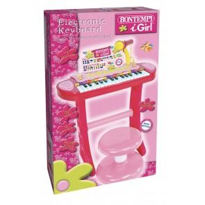 I Girl. Tastiera Elettronica A 31 Tasti Con Microfono E Sgabello
