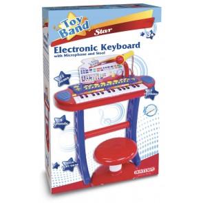 Toy Band Star. Tastiera 31 Tasti Con Microfono E Sgabello