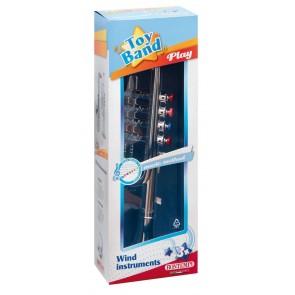 Toy Band Play. Tromba Cromata Media A 4 Pistoni/Note Colorati